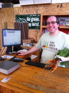 the carrots in The Root Cellar (local farm market)